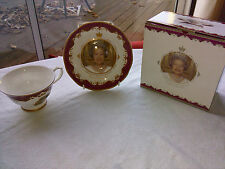 queen elizabeth 11 diamond jubilee 2012 fine bone china cup and saucer