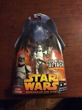Star Wars 2005 Revenge of the Sith Hasbro Action Figure #6 Clone Trooper White V