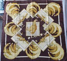 Foulard hermes paris coq Combats unguibus et rostro limited raro silk seta soie