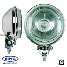 "Ring Auto's Chrome-Lite 12v Car 4.5"" Round Driving Halogen Spot Lamps Lights"