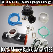 "BLACK ADJ Type RS Blow off Valve+ 3""  Silicone Type S Adapter+SS Clamps COMBO"