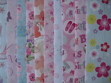 10 SHEETS OF GOOD QUALITY ASSORTED FEMALE FLORAL BIRTHDAY WRAPPING PAPER
