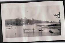 VINTAGE 1919 BEULAH PENSACOLA BUNNELL FLORIDA BOATS BAY SAIL BOAT DOCK OLD PHOTO