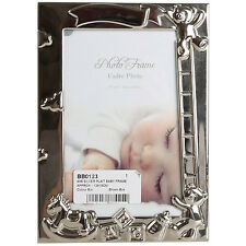 10x15cm Silver Plate Baby Single Picture Photo Frame Home Ornament Decoration