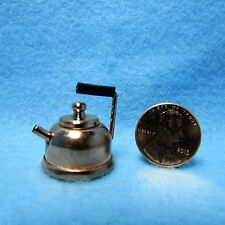 Dollhouse Miniature Cooper Tea Pot / Kettle with Lid ~ IM65065