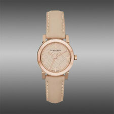 Burberry Women's The City Swiss Rose Gold Tone Steel Leather 26mm Watch BU9210