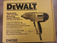 "DEWALT DW292 1/2"" ELECTRIC IMPACT WRENCH 7.5 AMP KIT W/ DETENT PIN ANVIL"