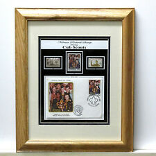 CUB SCOUTS, OFFICIAL Mint Boy Scout & Rockwell Stamps, Award  Frame-GREAT GIFT