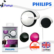 New Genuine Philips Earclip Headphones SHS3800 (3 sets of colored caps)