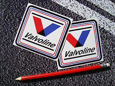 2 X VALVOLINE LUBRICANTS OIL STICKERS  F1 LEMANS 9cm x 8 1/2cm