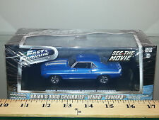 1/43 GREENLIGHT HOLLYWOOD FAST & FURIOUS BRIANS 1969 CHEVROLET YENKO CAMARO