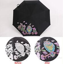 Creative Owl Color Changing Magic Folding Umbrella Rain/Sun Anti-UV Parasol Gift
