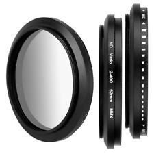 52mm Variable Adjustable Neutral Density ND Fader Filter ND2 ND4 ND16 to ND400