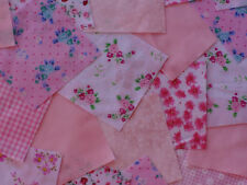 "100 x 5"" Poly Cotton Fabric Bundle patchwork squares~Pink Collection Craft"
