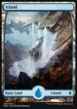 MTG ISLAND #257 FOIL - ISOLA FULL ART 3 - BFZ - MAGIC