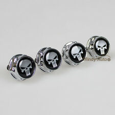 Punisher Car License Plate Frame Screw Bolts Cap Cover For Benz All Models