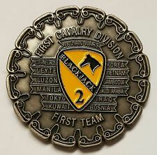 US Army 1st Cavalry Division Epoxy Blackjack 2 The Blackjack Command Team Coin