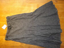 New Ex-BHS Ladies Black Denim 100% Cotton A Line Denim Skirt+ Belt sz 14 (£25)