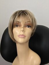 JON RENAU Natalie Open Cap Angled Short Wig, Average, Rooted Blonde 12FS8