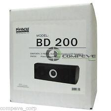 New Pair Pinnacle BD200 Audiophile 180watt HomeTheater 2 Speakers Front Center