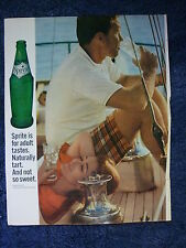 Vintage 1960s ad for Sprite  by the Coca Cola Company