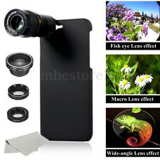 5in1 9X Telephoto Wide-angle Marco Fisheye Camera Lens + Case For iPhone 7 Plus