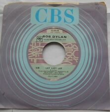 BOB DYLAN Lay lady lay /I threw it all away Ex to NM- CANADA CBS HALL OF FAME 45