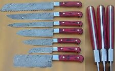 Custom Handmade Damascus Kitchen/Chef Knife Set 7/Piece By Damascus Points