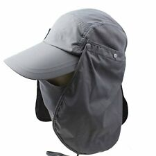 UV 50+Protection Outdoor Multifunctional Flap Cap w/ Removable Sun Shield & Mask