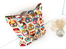 Owl Canvas Capacity Women Shopping Shoulder Bag Tote About 37*35cm