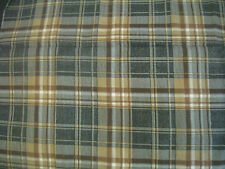 "BROWN/GREY/WHITE PLAID LIGHTWEIGHT FLANNEL FABRIC, 30"" X 44"""