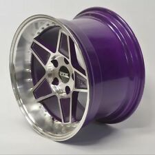 "FYK ED3 17"" 8.5j 10j Staggered Alloy Wheels 5x100 EURO DRIFT Audi VW Golf Subaru"