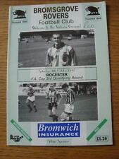 11/10/1997 Bromsgrove Rovers v Rocester [FA Cup] (Note Made On Cover)