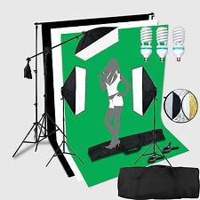 3*150W Portraint Professional Photo Studio continuous lighting 2x3 Meter Backgr