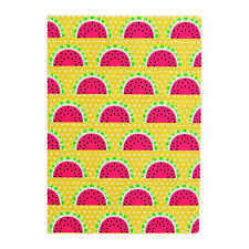 Sass and BelleA5 sized Notebook - Tropical Summer Watermelon design, Plain paper