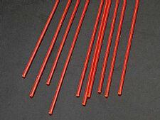 NEW Plastruct Rod Round Fluorescent Red 1/16  (10 90271