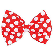 Adult Wedding Xmas Party Dress Accessory Jumbo Spotted Material Bow Tie Red