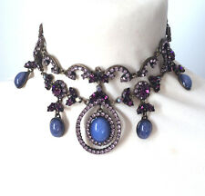 Butler and Wilson Purple Crystal Small Choker Style Gala Necklace NEW RRP £128