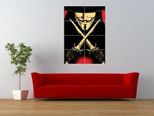 V FOR VENDETTA MASKED CHARACTER STILETTO GIANT ART PRINT PANEL POSTER NOR0633