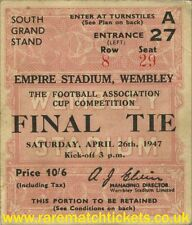reproduction 1947 CHARLTON ATHLETIC BURNLEY fa cup final ticket [RMT]
