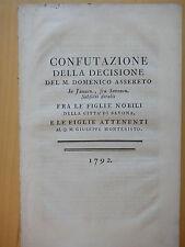 1792-CONFUTAZIONE DELLA DECISIONE DEL M.DOMENICO ASSERETO…-SAVONA-CAUSA