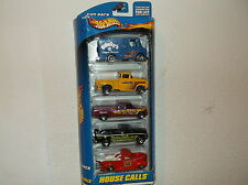 NEW HOT WHEELS GIFT PACK HOUSE CALLS GROUP OF 5 DIE-CAST CARS..IN BOX SCALE 1:64