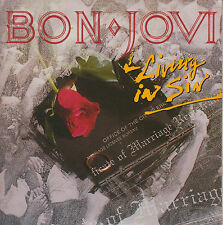 Bon Jovi ‎- Living In Sin MCD Limited Edition 1988/89 Canada Imp. - Pappschuber