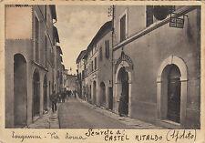 SAG001 - SAN GEMINI TERNI - VIA ROMA ANIMATA VIAGGIATA 1939