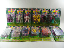 COMPLETE SERIE 12 ACTION FIGURES EVIL SPACE ALIENS - POWER RANGERS BANDAI - NEW