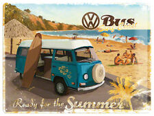 VW Volkswagen Bus Summer Blechschild Schild Blech Metall Tin Sign 30 x 40 cm