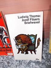 Jozef Filsers Briefwexel, von Ludwig Thoma, aus dem dtv Verlag