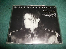 MICHAEL JACKSON WHO IS IT CD SINGLE REMIXES RARE