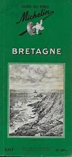 GUIDE VERT MICHELIN / FRANCE : BRETAGNE -1963- TOURISME - VOYAGE - COLLECTION