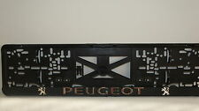 Peugeot Chrome, 3D effect License Number Plate Holders